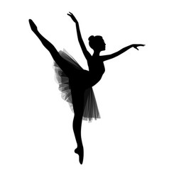 ballerina on white background vector image