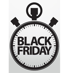 Black fridaystopwatch icon vector image vector image