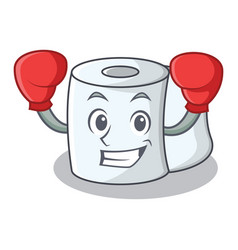 boxing tissue character cartoon style vector image