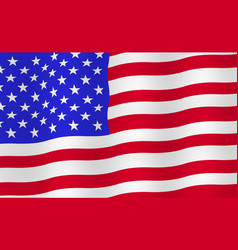 Bright usa flag background vector