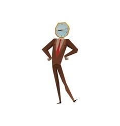 Businessman watch head vector image