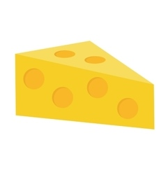 Cheese icon flat style Isolated on white vector image vector image