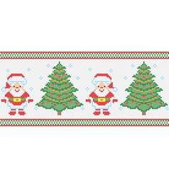 Christmas embroidery seamless texture vector
