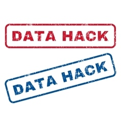 Data hack rubber stamps vector