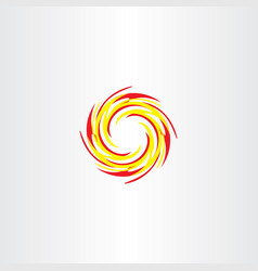Fire circle logo icon sign vector