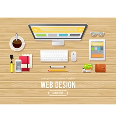 Flat design concept for webdesign web banners vector