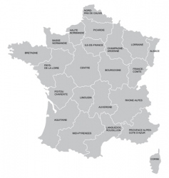 french map vector image vector image