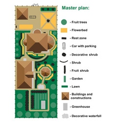 General site plan to house vector image