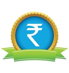 Gold rupee logo vector