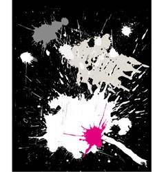 grunge black background with splats vector image vector image