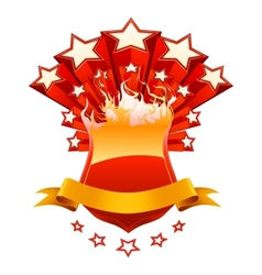 Isolated red emblem vector image vector image