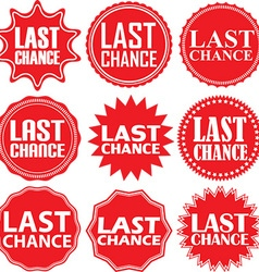 Last chance red label last chance red sign last vector