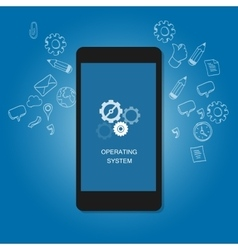 mobile operating system OS cell phone flat vector image vector image