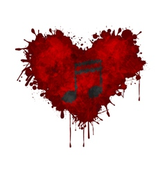 Music in the heart vector image vector image