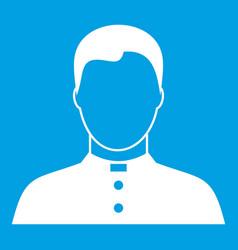 Pastor icon white vector