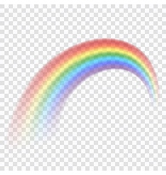 Rainbow icon realistic 3 vector image vector image