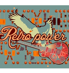 Retro vector image vector image