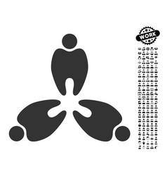 Stomatology icon with work bonus vector