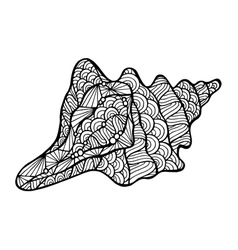 Stylized shell zentangle vector image