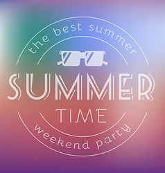 Summer Time Party Text Card vector image