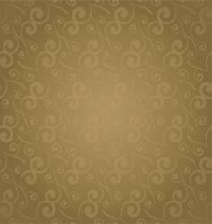 swirl repeat golden vector image vector image