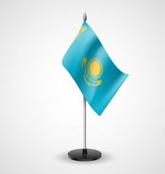 Table flag of kazakhstan vector