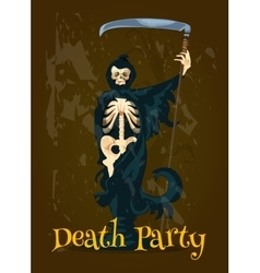 Halloween death party banner vector