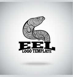 Eel logo concept for sport teams business vector