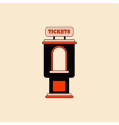 In flat style cinema ticket vector