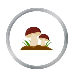 Mushroom icon cartoon single plant icon from the vector