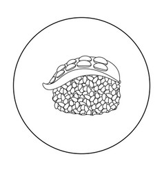 Nigiri icon in outline style isolated on white vector
