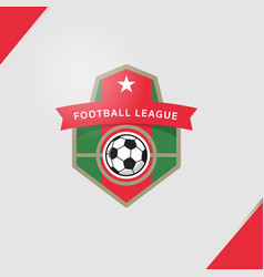 soccer football badge greeting card typography vector image