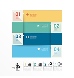 Modern Design soft colour template vector image