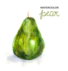 Background with watercolor pear vector