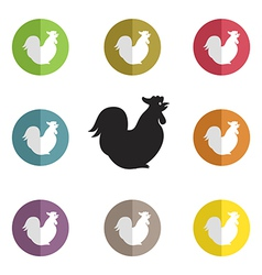 Group of cock vector