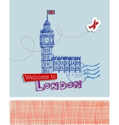 Big ben - symbol of london vector