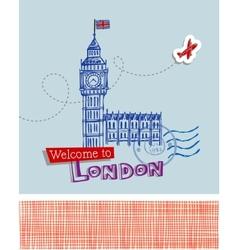 Big Ben - symbol of London vector image