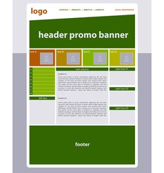 Website template layout with text vector