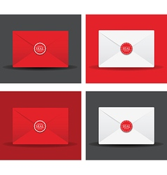 Seal envelope set vector