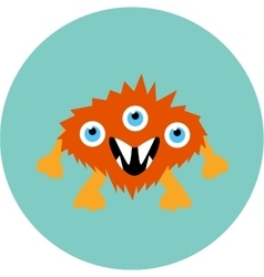 Cartoon cute monster alien vector image