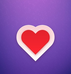 Red heart on purple background vector