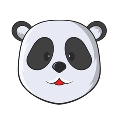 Head of panda bear icon cartoon style vector
