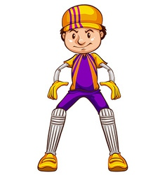 A cricket player vector