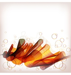 abstract background orange wave vector image vector image