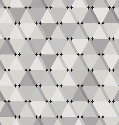 Abstract seamless pattern with grey triangles vector image vector image