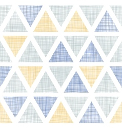 Abstract textile ikat triangles seamless pattern vector image vector image