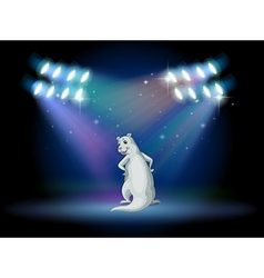 An animal standing with spotlights vector image