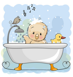 Chicken in the bathroom vector