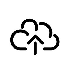 cloud icon symbol of online storage with arrow as vector image vector image