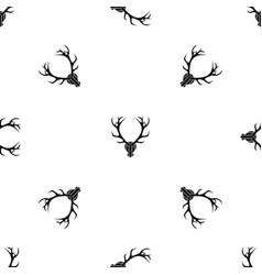 deer antler pattern seamless black vector image vector image